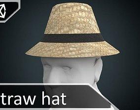 3D model low-poly Straw hat