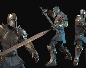 3D model animated Knight