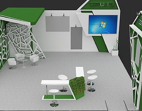 exhibition stand Exhibition Stall 3D Model