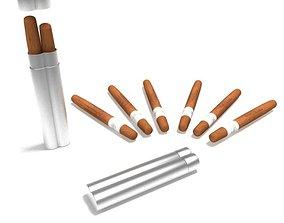 Protective Aluminum Duel Cigar Holder 3D