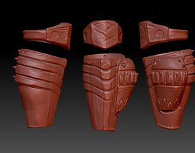 predator 2 inspired shin guard armour 3D printable model