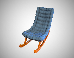 3D asset low-poly Rocking chair comfort