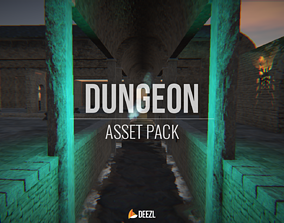 3D model Dungeon - Asset Pack - Unity HDRP