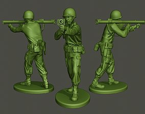 American soldier ww2 Shoot Stand A4 3D printable model