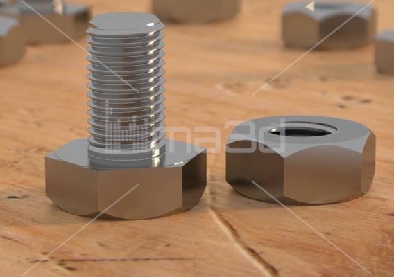 Realistic 3D bolt