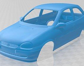 Opel Corsa B 1998 Printable Body Car