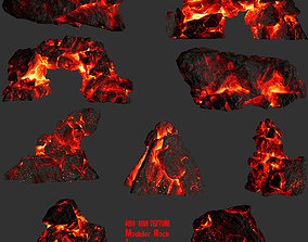 lava rock set 1 3D model