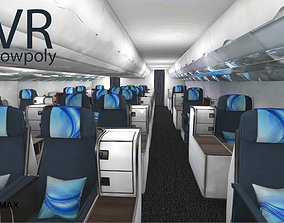 airplane A330-300 interior kit Unity3d low-poly