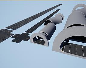 3D asset Modular Tunnel