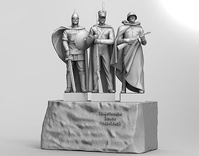 Monument to the Defenders of the Russian Land 3D model