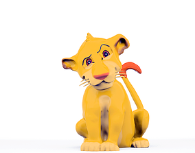 Simba from The Lion King Disney 3D printable model