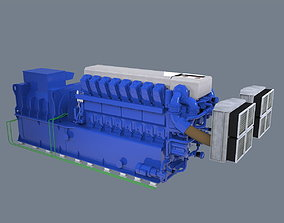3D asset Diesel generator
