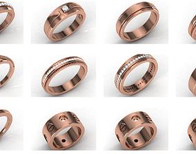 21 Women band ring 3dm stl render detail jewelry