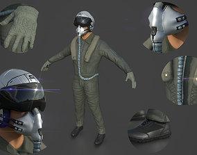 3D model PBR Pilot