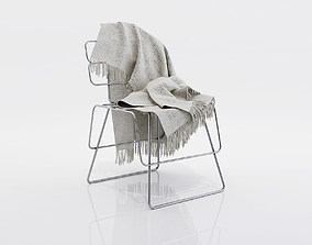 Blanket for a chair 3D model