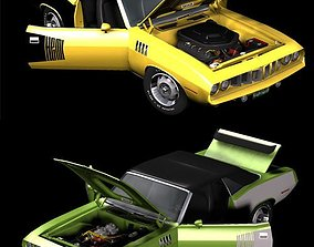 1971 AM Muscle Car 2n1 3D model