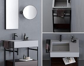 Ceramica Cielo Narciso Mini Washbasin Set 2 3D