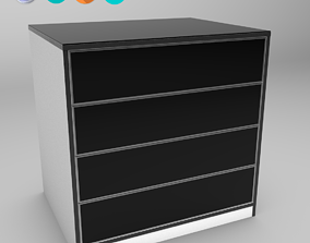 Custom-made furniture - Chest of drawers 3D