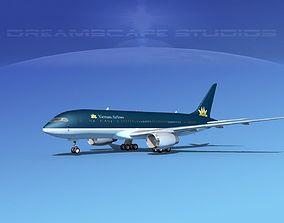 3D model Boeing 787-8 Vietnam Airlines