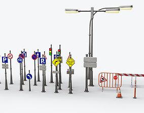 3D asset Traffic Sign Board
