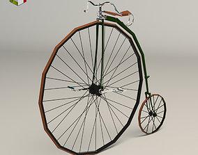 3D asset Low Poly Antique Bike