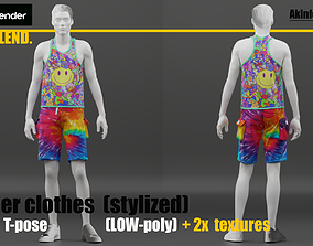 Sammer clothes LOW-poly 3D model
