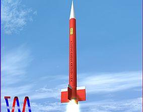 Canopus II Rocket 3D asset