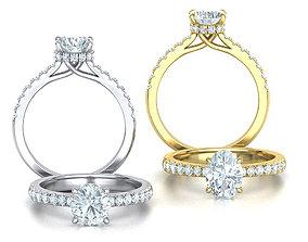 3D model Trellis Engagement Rings Collection 1CT STONES 2