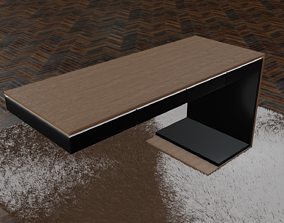 Modern desk 3D model VR / AR ready