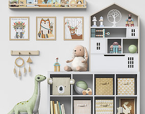 Toys and furniture set 109 3D model