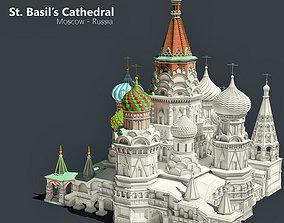 3D model Highly Detailed St Basils Cathedral