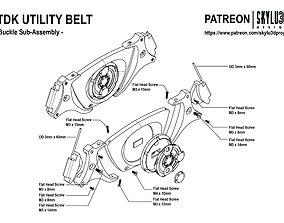 Batman TDK Full Size Utility Belt 3D print ready