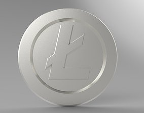 Litecoin 3D printable model currency