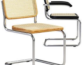 3D Cesca Chairs B 32 by Marcel Breuer 2 options