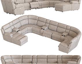Modular Sofa with Foot lift 3D model
