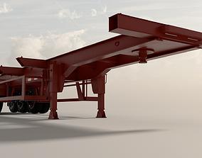 Fudeng Trailer Container 3D asset