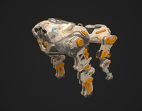 3D model Sci fi quadruped scout robot