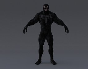 rigged Ultimate Venom 3D Production Model