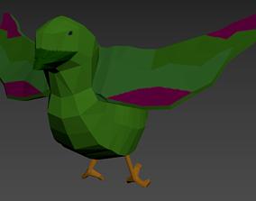 Animated bird - Low poly 3D asset