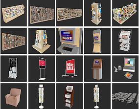 Book Store Furniture 3D
