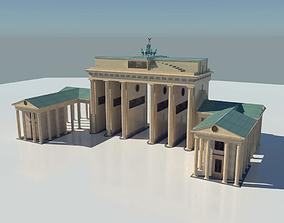 3D model VR / AR ready Brandenburg Gate Berlin