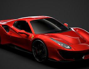 Ferrari Spider 488 Pista 2020 3D model spider