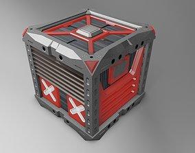 Sci-Fi Box Crate 3D asset