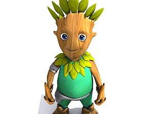 3D model Set 01 - Cartoon Character 02 - Tree Man
