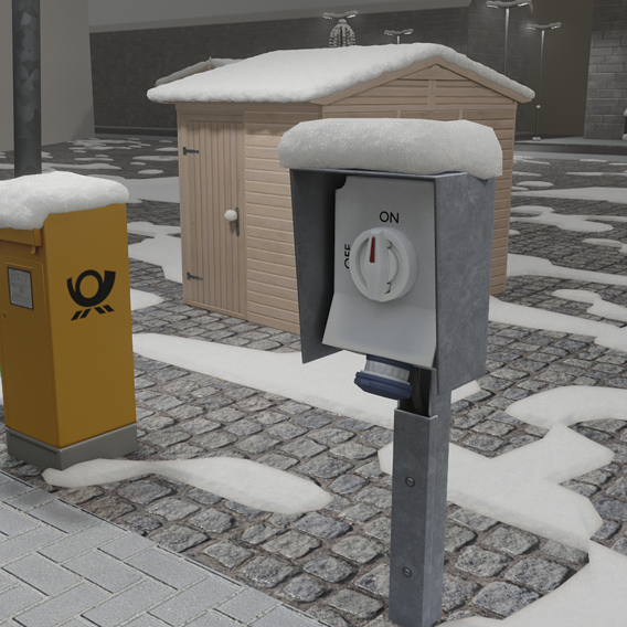 Blender-2.91 Real Snow Test-9