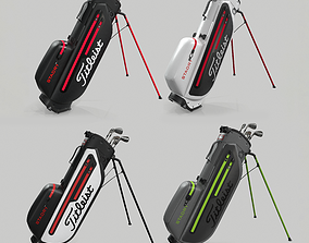 Titleist 4 colors StaDry Golf Bag Plus 3D model