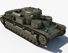 T-28 Middle Tank 3D model