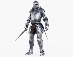 3D asset Knight Rigged