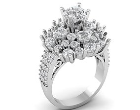 155 Diamond Women Ring 3D printable model