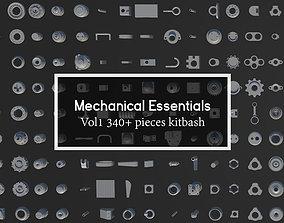 Mechanical Essentials Kitbash Vol1 340 pieces 3D asset